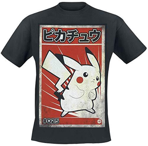 Pokémon Pikachu - Poster Männer T-Shirt schwarz M