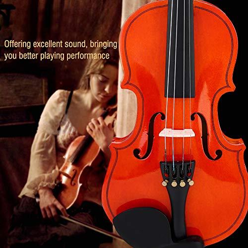 1/8 violín, violín, claro y coherente, acabado satinado, nítido y suave, tilo más fino, kit de violín, para instrumentos musicales, violín, música