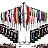 PowerLix Milk Frother Handheld Battery Operated Electric Foam Maker For Coffee, Latte, Cappuccino,...