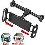 SunTop Supporto Auto Poggiatesta, Supporto tablet auto Sedile Posteriore, Supporto Universale da Poggiatesta Schienale da 4-11 pollici, Regolabile 360 Gradi