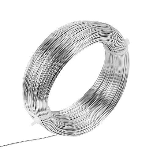 LEMESO 1mm Aluminiumdraht Schmuckdraht 150m Lang Basteldraht DIY Silber für Handwerke Craft Draht Basteln