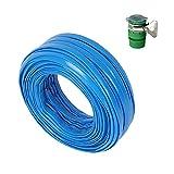 HAIYU- Blaue Flache PVC-Wasserschlauchleitung Verstärkter Knickfester Flexibler Schlauch Ideal für Gartenbewässerungssysteme Leicht Und Langlebig, 1/2 Zoll Durchmesser