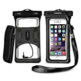 Vansky Floatable Waterproof Case, Cellphone Dry Bag with Armband and Audio Jack for iPhone 12 11 X XR 7/7 Plus, Samsung, TPU Construction IPX8 Certified Waterproof Phone Pouch