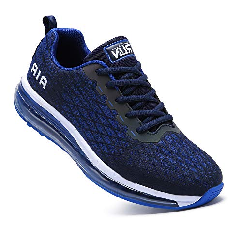 Axcone Mens Gym Walking Tennis Racquet Ultra Sports Shoes Fitness Casual Footwear Breathable Footwear Outdoor Trainer Running Jogging Sneakers (8998 Blue Size 9.5)