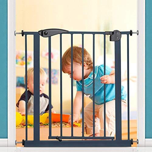 KTDT Puertas de Seguridad para Interiores Puerta de bebé Ajustable Extra Ancha Puerta de plástico para Mascotas para Perros y Gatos Valla Blanca para Puertas de Casas Escaleras de 75-184 cm de an