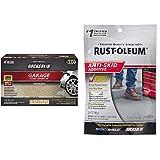 Rust-Oleum 293515 Rocksolid Polycuramine Garage Floor Coating, 2.5 Car Kit, Tan & 279847 EPOXYShield Anti Skid 3.4-Ounce