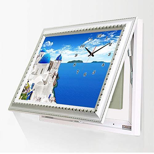 ZZKJXHJ Cuadro Decorativo eléctrico para Caja eléctrica/Europeo con Relojes Caja de interruptores...