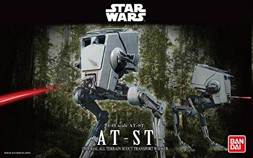 Revell Bandai 01202 Disney Star Wars at-ST Läufer Stormtrooper originalgetreuer Modellbausatz für Experten, 1:48/18,2cm, 1/48
