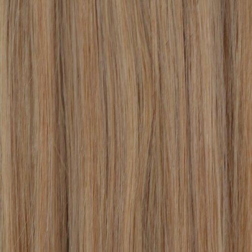 50 mèches de 50,8 cm Nano Pointe Extensions de cheveux Remy 100% humains Blond cendré naturel – # 24nab