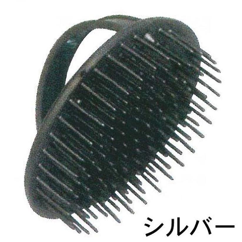 音声学合金クラッチシャンプーブラシ デンマン D-6 シルバー