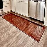iDesign Formbu Bamboo Floor Mat Non-Skid, Water-Resistant Runner Rug for Bathroom, Kitchen,...