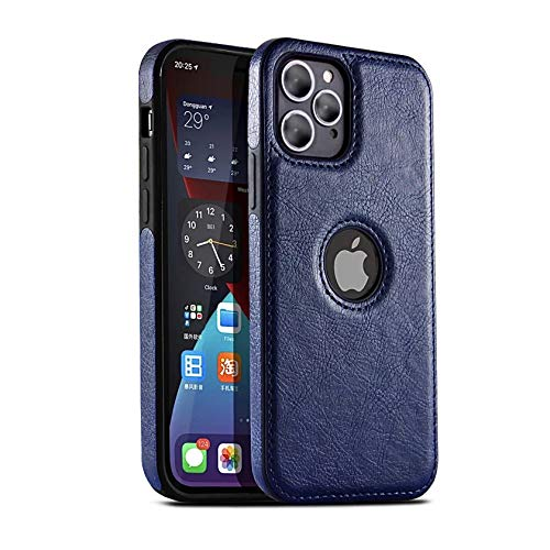 NN Compatible for iPhone 12 pro max Soft Thin TPU Leather case, Elegant Antique Looks for Your Beautiful Phone 6.7''(Blue)