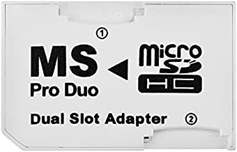 SANOXY Dual Slot Micro SD TF To MS Memory Stick Pro Duo Adapter Sony PSP and Mobile Phones (White)
