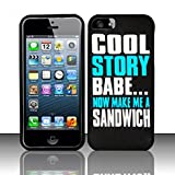 Zizo Rubberized Design Protective Cover for iPhone 5/5S - Retail Packaging - Cool Story Babe Design