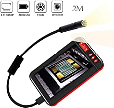 MASO Inspection Cameras 8mm USB Endoscope 1080P HD Industial Borescope Tube 4.3 Inches LCD Screen F200 Waterproof (2M)