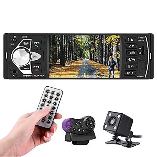 Qiilu 4.1 Autoradio Zoll HD Bluetooth Feihändiges Auto MP5 Spieler Video FM Radio AUX TF USB Fernsteuerungs Spielt(Mit Kamera)