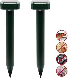 funfunfly 超音波ソーラー式 動物撃退器 モグラ撃退器 ネズミ撃退器 (緑)
