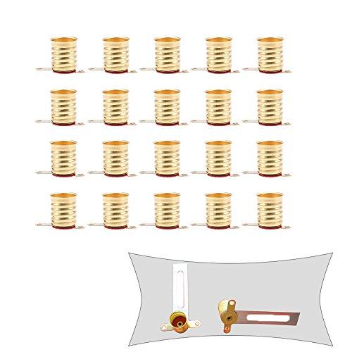 GOODCHANCEUK - Enchufe de bombillas E10, 20 unidades, base de tornillo de cobre para proyectos electrónicos
