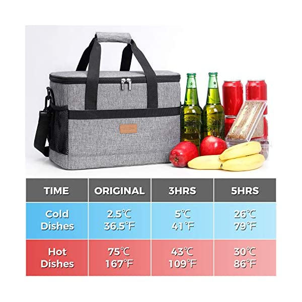 Lifewit 20L Soft Cooler Bag Large with Hard Liner, Insulated Picnic Soft-Sided Cooling Bag for Camping/BBQ/Shopping…