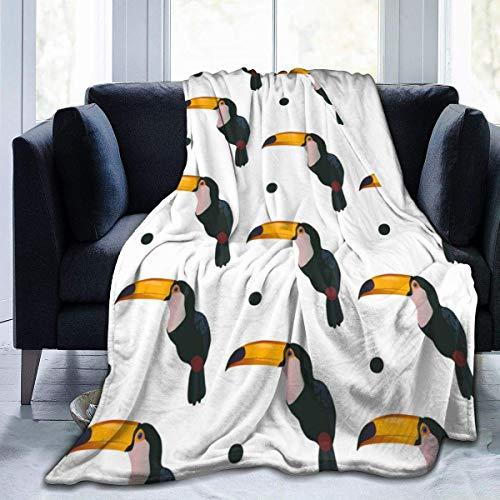 Popcorn In Spring Cartoon Tukan Super Soft Decke Decke Warme Gemütliche Flauschige Decke für Bett Sofa Couch Cover Schwarze Decke