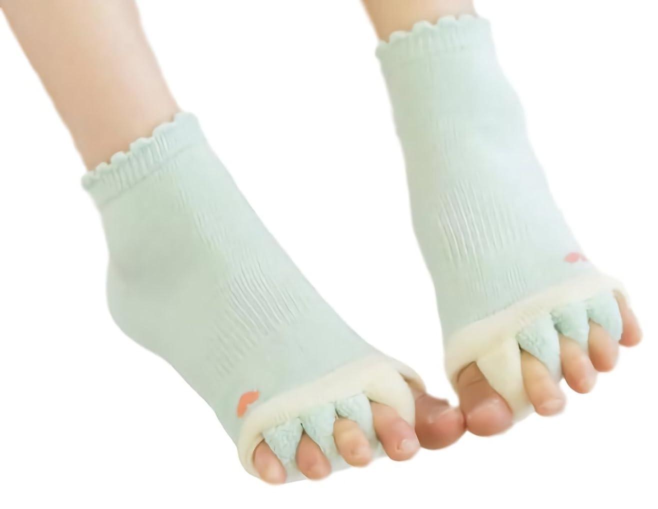 相関する液化するピュー[ウレギッシュ] ソックス 足指全開 5本指 ストレス 解消 くつろぎ ルームソックス