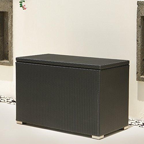 XL Kissenbox Auckland aus Aluminium, schwarz, 132cm - 4