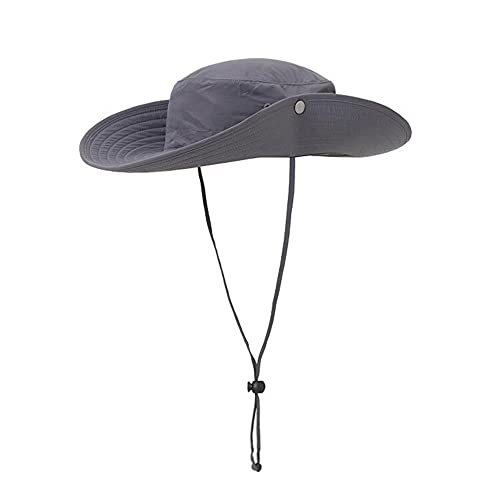 ISEYMI Outdoor Sun Hat Multifunctional Boonie Safari Hat Wide Brim Caps Sun  Block Fishing Hat UPF50+ 1e0fa8fd4069