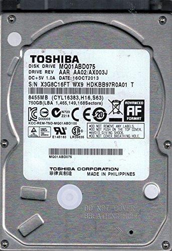 Toshiba MQ01ABD075interne SATA AAR AA02/ax003j 750GB