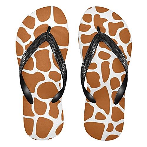 Linomo Chanclas para hombre y mujer, con diseño de jirafa, para verano, para la playa, color Multicolor, talla 36/37 EU