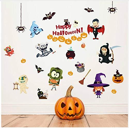 Halloween spookhuis Elfen met Xpress Kinderen Kamer Slaapkamer Woonkamer Muurstickers Aangepaste Huis Meubelen Achtergrond 60x90cm