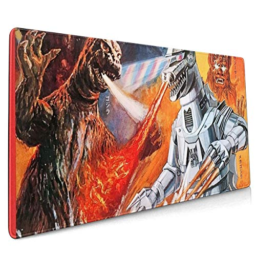 Mechagodzilla Vs Godzilla Extended Gaming Mouse Mat, DIY Custom Professional Mouse Pad (35.5x15.8In),Desk Pad Keyboard Pad Mat, Water-Resistant, Non-Slip Base, For Work & Gaming, Office & Home
