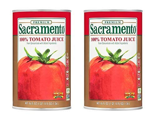 Sacramento Tomato Juice, 46oz Can (Pack of 2)