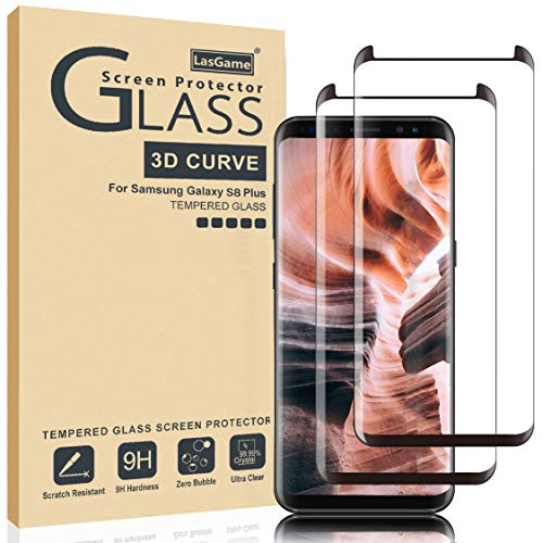 LasGame Samsung Galaxy S8 Plus Screen Protector, [2 Pack] 9H Hardness Anti-Scratch Full...