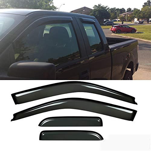 For Nissan Altima 07-12 Window Deflectors Tape-On Low Profile Ventvisor Smoke