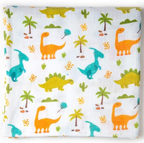Ella Bonna Organic Cotton Baby Blanket Dinosaur Printed All in One Nursing and Stroller Cover product image