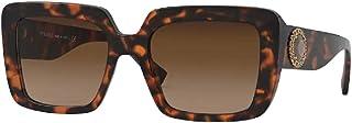 Versace VE4384B 944/74 54MM Havana/Light/Dark Brown Gradient Square Sunglasses for Women + FREE Complimentary Eyewear Kit