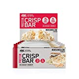 Optimum Nutrition ON Protein Crisp Bar Low Carb High Protein Riegel mit Whey Protein Isolate, 20g...