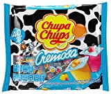 Chupa Chups Mini Lollipops, 40 Candy Suckers for Kids, Cremosa Yogurt, 2 Assorted Creamy Flavors, for Gifting, Parties, Office, 40 Count
