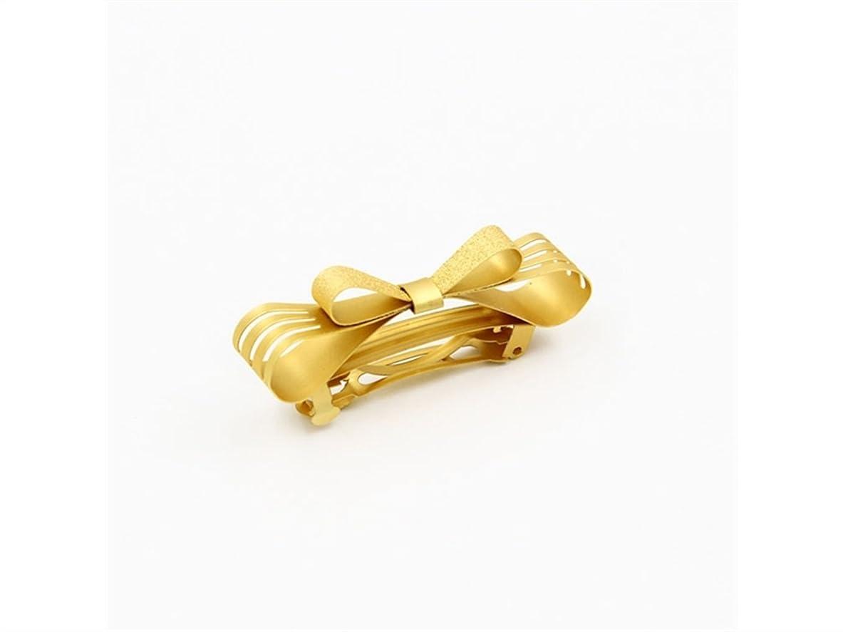 誘惑建築家キャッシュOsize 美しいスタイル ゴールドの中空の弓ヘアピンの春のヘアクリップの髪の装飾クリップ(ゴールデン)