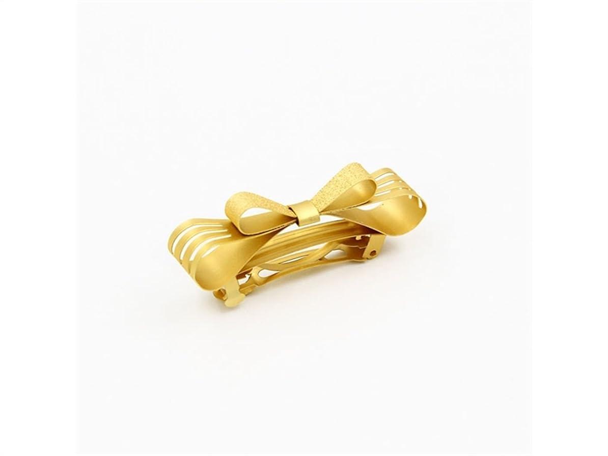 トランクライブラリ尊敬する故意にOsize 美しいスタイル ゴールドの中空の弓ヘアピンの春のヘアクリップの髪の装飾クリップ(ゴールデン)