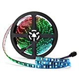 【Black FPC LED Strip Light】The FPC is black, which is different from most of white FPC strips. Perfect black FPC strip for you to decorate TV, computer and other dark furniture. 【RGB Color Changing Rope Lights】The led chip is SMD 5050, and each LED c...
