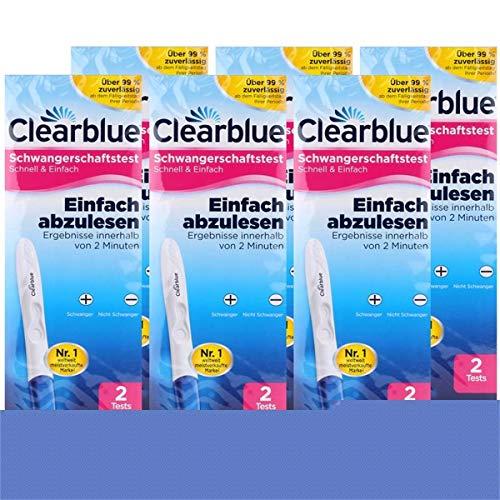 Clearblue EASY Schwangerschafts-Frühtest, 2 Tests (6er Pack) (6er Set)