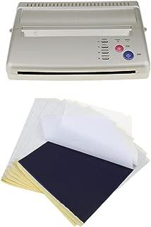 Segolike Silver Aluminium Alloy Tattoo Copier Printer Machine Thermal Stencil EU Plug with 10 Transfer Paper