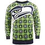 BIG NFL Ugly Sweater Pullover Christmas Seattle Seahawks Logo Weihnachtspullover -