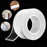 【EASY TO USE & REMOVABLE】The length of this double-sided tape is 10FT, 1.18inches wide and 0.08 inches thick,you can easily cut the nano tape to any size you need. Very easy to remove and leave no residue. Note: To avoid the possible damage, we don't...