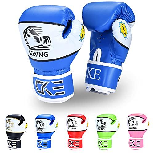 CKE Kinder-Boxhandschuhe für Kinder, Jungen, Mädchen, Jugendliche, Kleinkinder, Alter 5–12 Jahre, Trainings-Boxhandschuhe für Boxsack, Kickboxen, Muay Thai