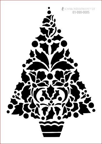 graphits Schablone Weihnachten Weihnachtsbaum, Kugeln, 01-990-0005 Fensterschablone, Dekoschablone, Größe anpassbar