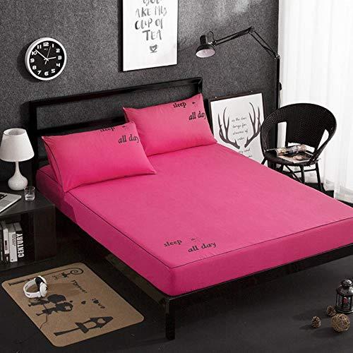 Hoog 30cm Effen kleur Hoeslaken Huidvriendelijk katoenen Bed Sheet, Vier Hoeken Met Elastische Band Matrashoezen