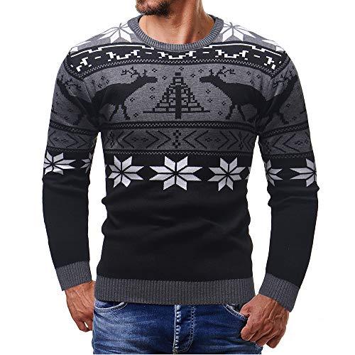 FRAUIT Herenpullover sweater herfst winter hemd unisex gebreide trui Kerstmis sweater luier kat gebreid patroon kersttrui
