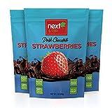 Next by Nature Dark Chocolate Strawberry 3 oz Bag (Pack of 3)